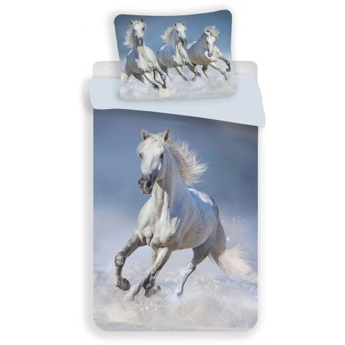 Fehér lovas ágyneműhuzat 140x200 cm 70x90 cm