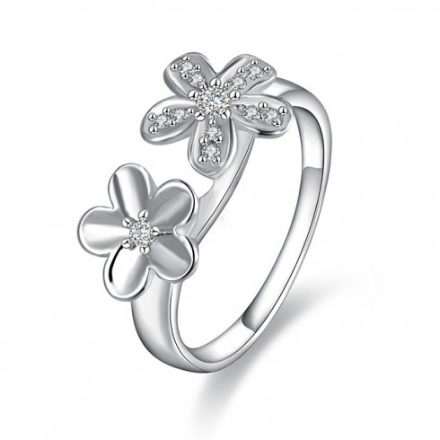 Dupla virágos gyűrű