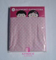 3 részes ágynemű garnitúra gyerekeknek rózsaszín pöttyös