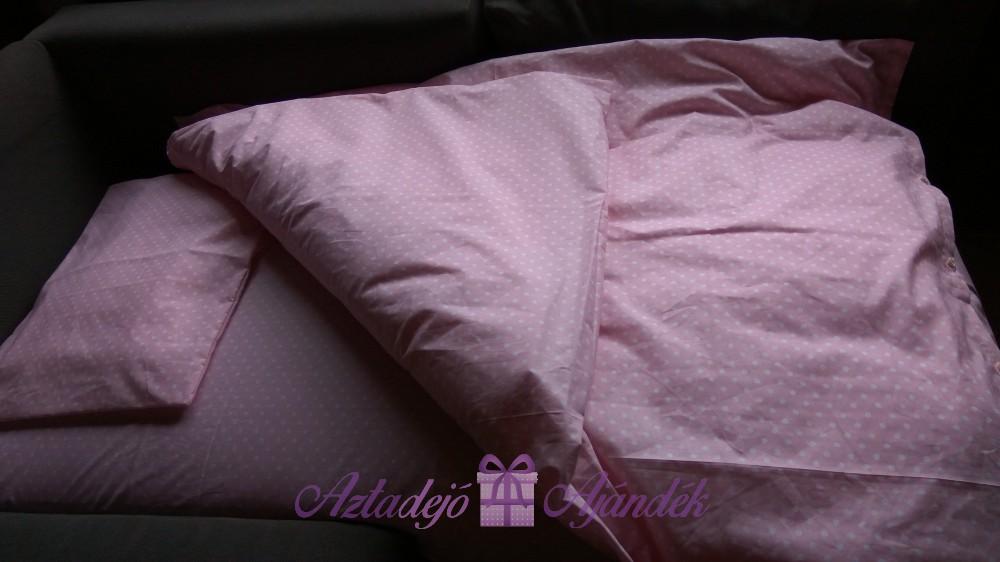3 részes ágynemű garnitúra gyerekeknek rózsaszín pöttyös - Aztadejó ... 5b519175e3