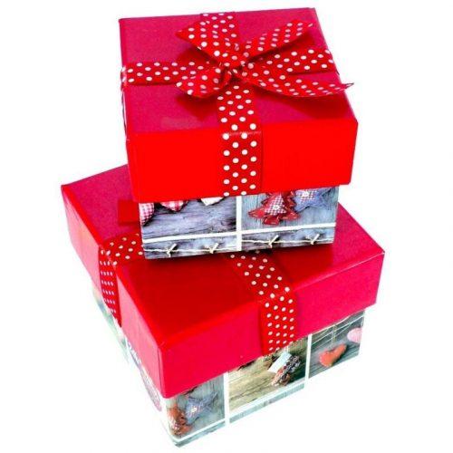 Karácsonyi masnis doboz 2 darabos