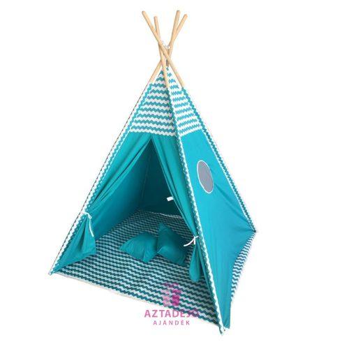 G21 TEEPEE kék égbolt mintájú sátor ajándék hajgumi szettel