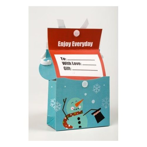Mini zsebes ajándéktáska Hóemberes