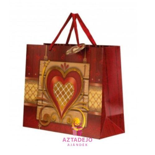 Ajándék táska szív