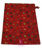 Ajándékzsák karácsonyi 38x27 cm piros