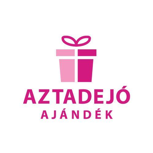 Ajándék tasak szülinapos ezüst/fekete 26*32cm
