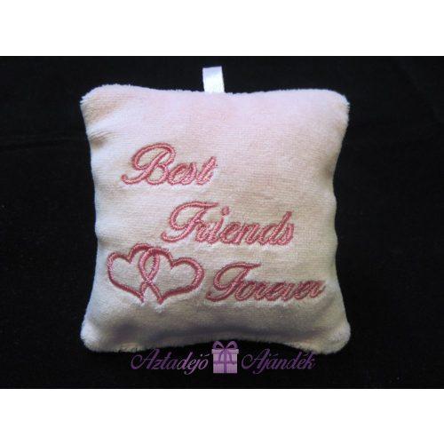 Best Friends Forever plüss kulcstartó 9x9 cm fehér