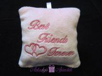 Best Friends Forever plüss kulcstartó 9x9 cm rózsaszín