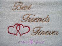 Best Friends Forever törölköző fehér