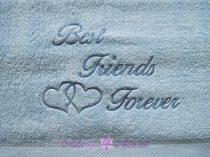 Best Friends Forever törölköző kék
