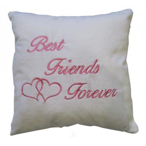 Best Friends Forever plüss párna 35x35 fehér