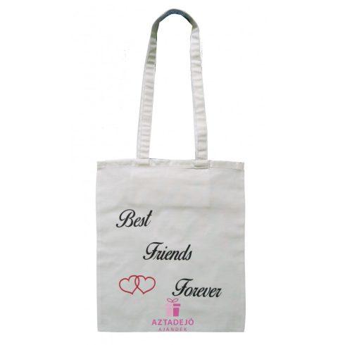 Best Friends Forever vászon táska fekete felirattal