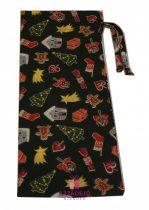 Boros textil ajándékzsák karácsonyi 38x15 cm zöld