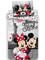 Ágyneműhuzat Disney Minnie Mickey New York 140×200cm, 70×90 cm