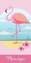 Flamingós törölköző 70x140 cm