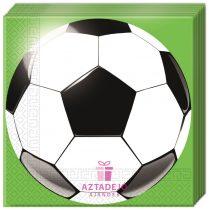 Focis szalvéta zöld focilabda 20 db-os