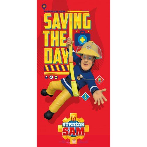 Fireman Sam, Sam a tűzoltó fürdőlepedő strand törölköző 70*140cm