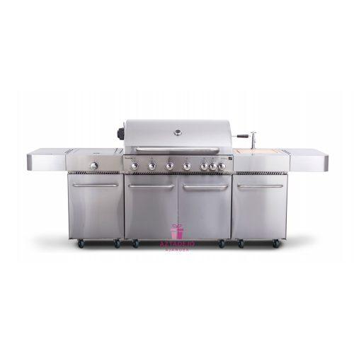 G21 Nevada, BBQ konyha Premium Line 7 égőfej+ ajándék nyomáscsökkentő