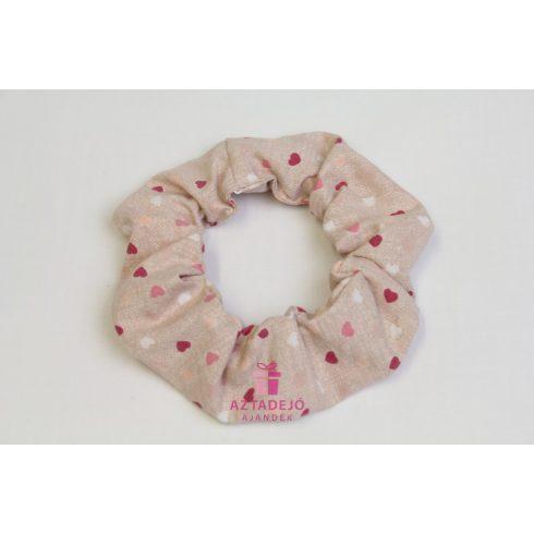 Hajgumi szívecskés rózsaszín
