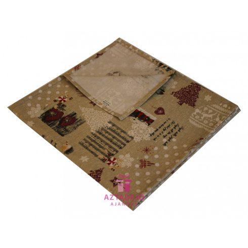Karácsonyi asztali futó 135x35 cm barna