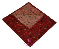 Karácsonyi asztali futó 135x35 cm piros