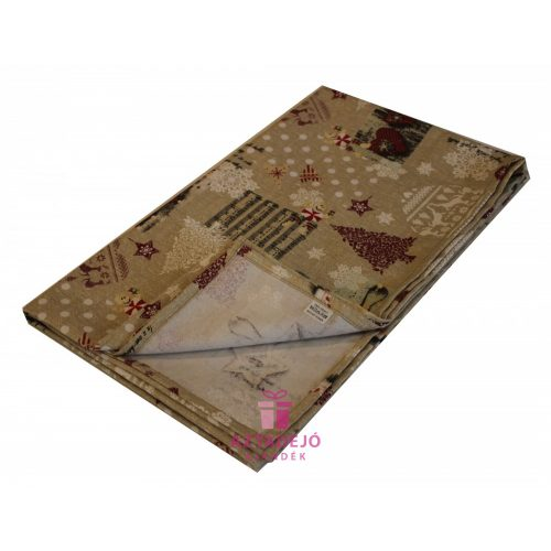 Karácsonyi asztalterítő 135x80 cm barna