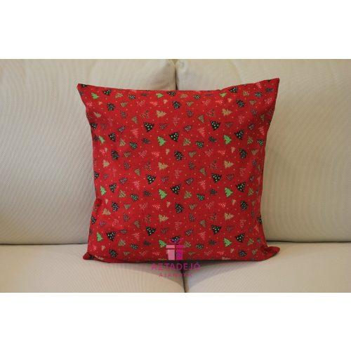 Karácsonyi díszpárnahuzat 40x40 cm piros