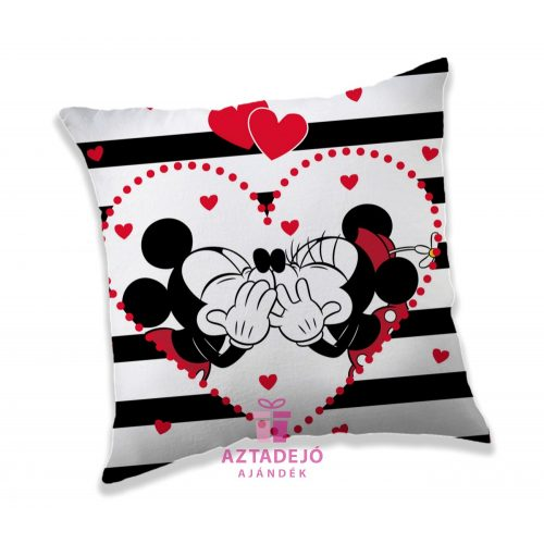 Minnie és Mickey csíkos párna