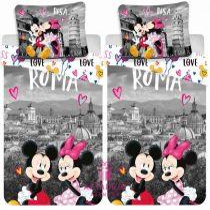 Minnie Mickey páros ágyneműhuzat Róma+ajándéktasak