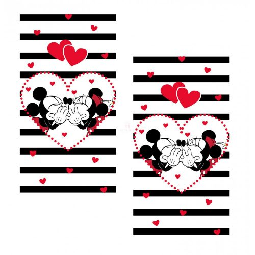 Minnie Mickey törölköző szett csíkos