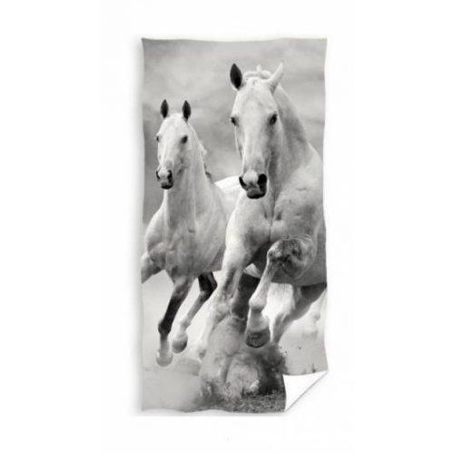 Fehér lovas törölköző 70x140 cm