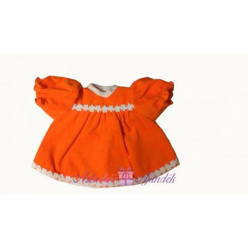 Narancssárga kordbársony babaruha