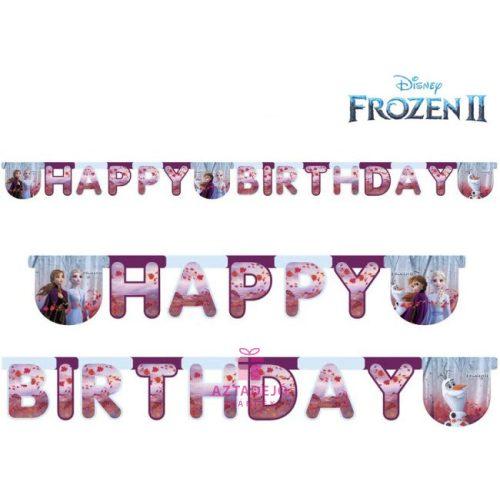 Disney Frozen II, Jégvarázs Happy Birthday felirat 200 cm