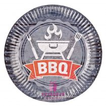 Tányér BBQ Party, 23 cm
