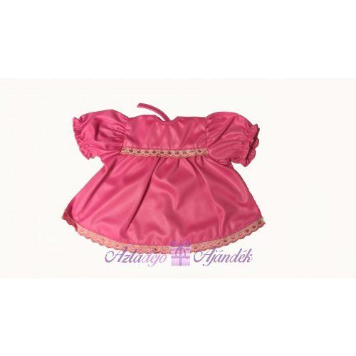Rózsaszín babaruha rózsaszín csipkével