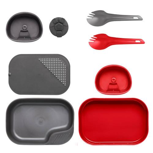Wildo® CAMP-A-BOX® Duo Complete - piros-sötétszürke
