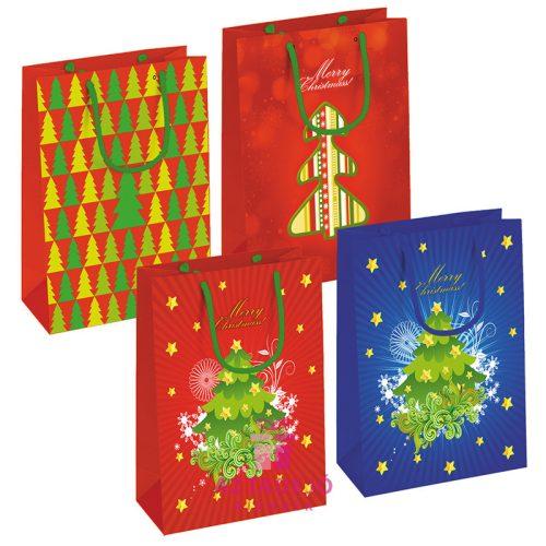 Karácsony ajándékzacskó 32*26*13cm egy darab
