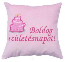 Születésnapi párna 35x35 cm rózsaszín