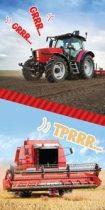 Traktoros kombájnos törölköző 70x140 cm