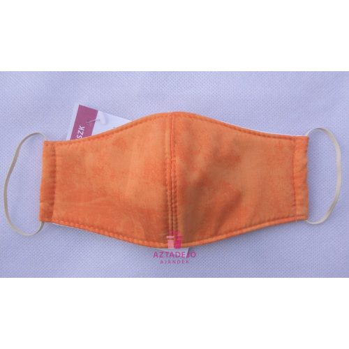 Textil szájmaszk 7-12 éves narancs