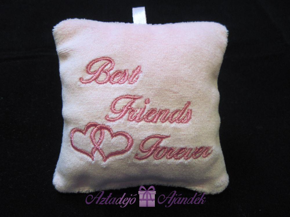 Best Friends Forever plüss csuklópárna 9x9 cm rózsaszín
